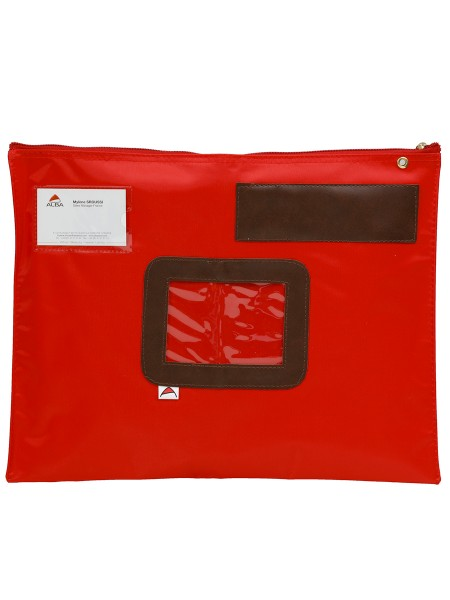 POCHETTE COURRIER PLATE ROUGE