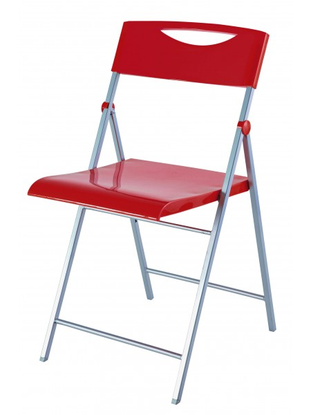 CHAISE PLIABLE ROUGE